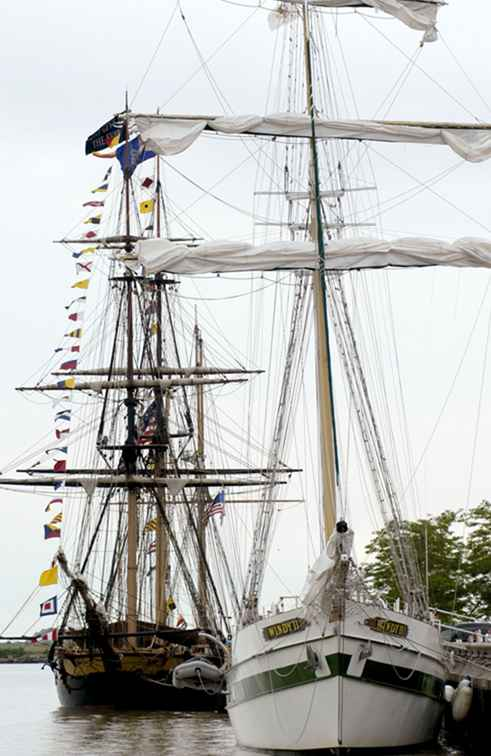 Besuch des Cleveland Tall Ships Festivals / Ohio