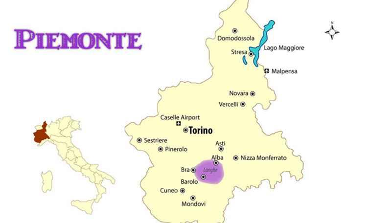 Karta Over Piemonte Karta 2020