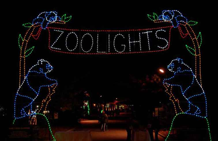 ZooLights Foton Holiday Lights på National Zoo